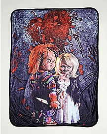 Chucky and Tiffany Fleece Blanket