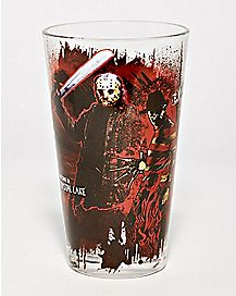 Freddy And Jason Pint Glass - 16 oz.