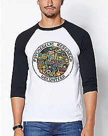 Psychedelic Research Volunteer Raglan T Shirt - Steven Rhodes