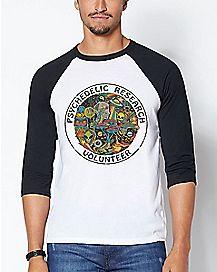 Psychedelic Research Volunteer Raglan T Shirt - Steven Rhodes