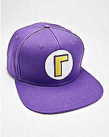 14d2ec5f9bb Waluigi Snapback Hat - Super Smash Bros