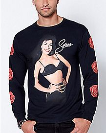 287af367 Long Sleeve Rose Selena T Shirt - Spencer's