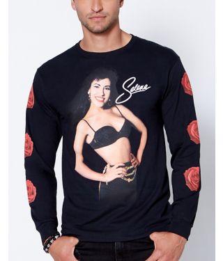 Long sleeve rose Selena t shirt