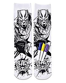 DIY Color Black Panther Crew Socks - Marvel
