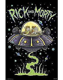 Space Ship Rick and Morty Poster