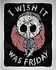I Wish It Was Friday Fleece Blanket - Friday The 13th