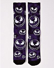 Tie Dye Jack Skellington Crew Socks - The Nightmare Before Christmas