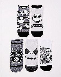 Multi-Pack Jack Skellington No Show Socks 5 Pack - The Nightmare Before Christmas