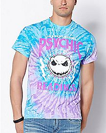Psychic Readings Tie Dye Jack Skellington T Shirt