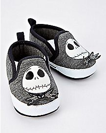 Gray Jack Skellington Baby Shoes - The Nightmare Before Christmas
