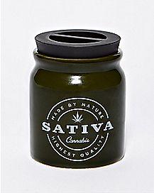 Cannabis Sativa Storage Jar - 6 oz.