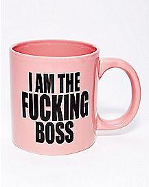 I Am The Fucking Boss Coffee Mug - 22 oz.