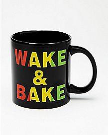Rasta Wake and Bake Coffee Mug - 22 oz.