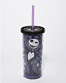 Jack Skellington Skull and Heart Cup with Straw 20 oz. - The Nightmare Before Christmas