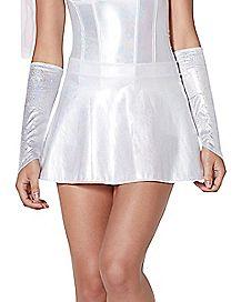 Iridescent White Skirt