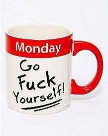 Monday Middle Finger Coffee Mug - 20 oz.