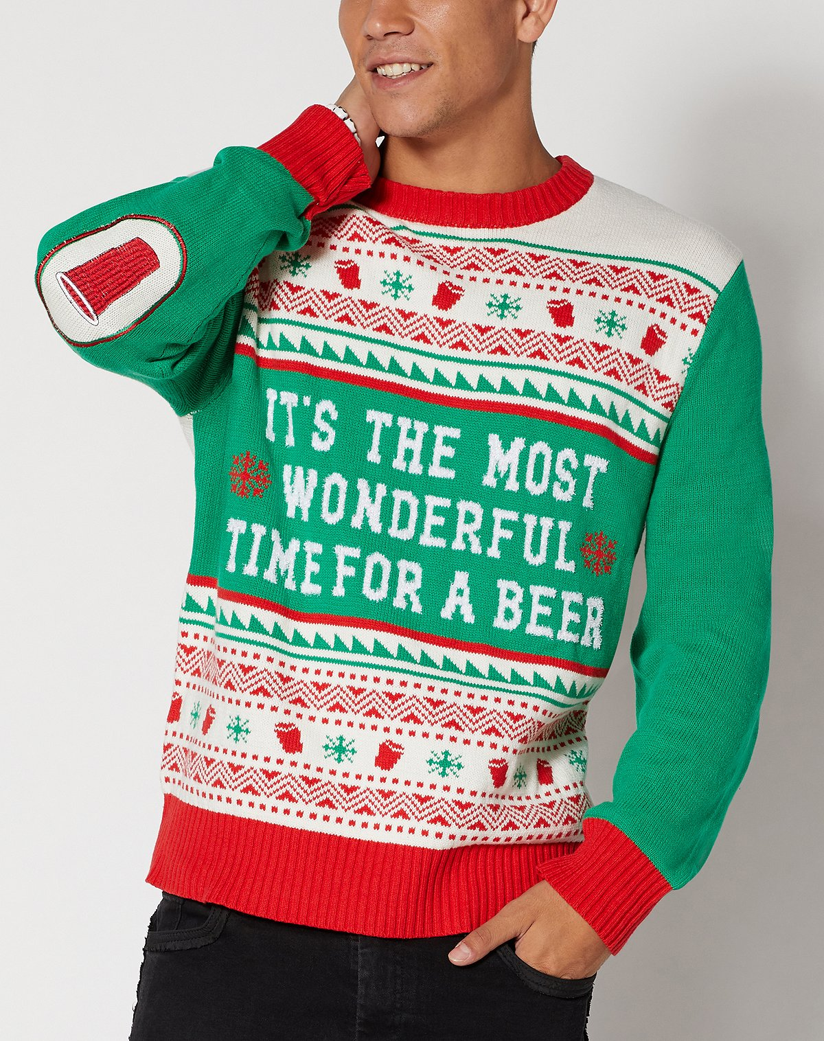 Its The Most Wonderful Time For A Beer Ugly Christmas Sweater
