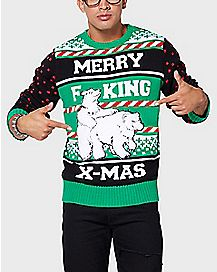 Humping Polar Bears Ugly Christmas Sweater