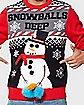 Light Up Snowballs Deep Ugly Christmas Sweater