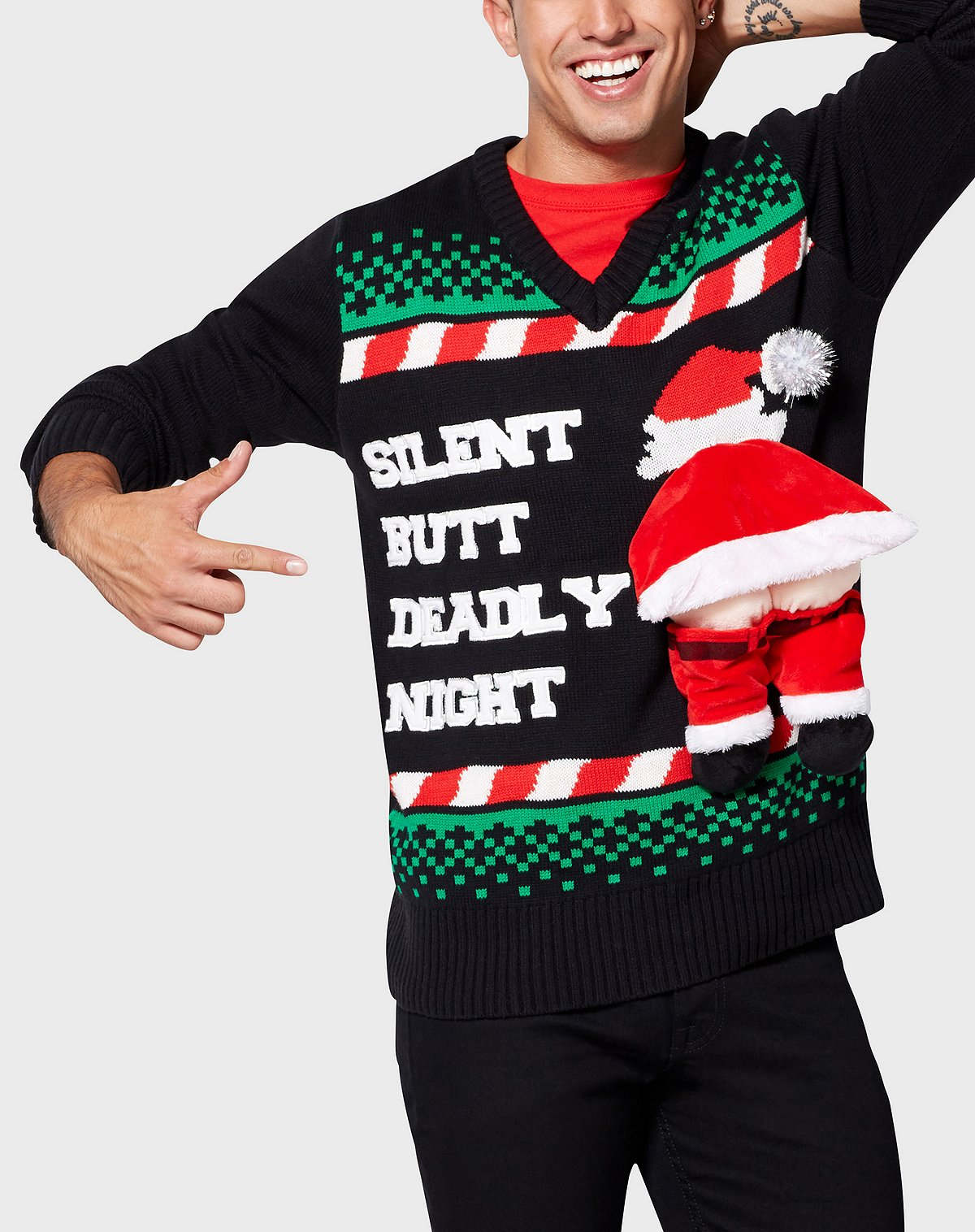 Spencer's Silent But Deadly Night Christmas Sweater