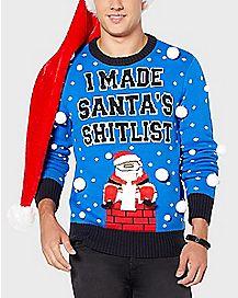 Santa's Shitlist Ugly Christmas Sweater
