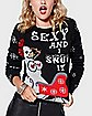Light Up Sexy Snow Lady Ugly Christmas Sweater