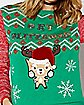 Light-Up Get Blitzened Reindeer Ugly Christmas Sweater