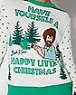 Light-Up Bob Ross Ugly Christmas Sweater