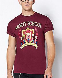 Morty School T Shirt - Rick and Morty