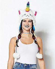 Faux Fur Rainbow Caticorn Laplander Hat