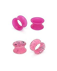 Multi-Pack Glow In The Dark Pink Speckled Tunnels - 2 Pair