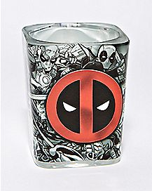 Collage Deadpool Square Shot Glass 1.5 oz. - Marvel