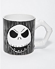Bone Handle Jack Skellington Coffee Mug 20 oz. - The Nightmare Before Christmas