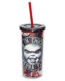 Hi I'm Chucky Cup With Straw - 20 oz.