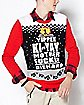 Yippee Ki-Yay Motherfucker Light-Up Ugly Christmas Sweater - Die Hard