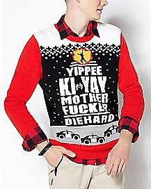 22d6d13f3f45 Yippee Ki-Yay Motherfucker Light Up Ugly Christmas Sweater - Die Hard