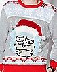 Santa Hat Rick Ugly Christmas Sweater - Rick and Morty