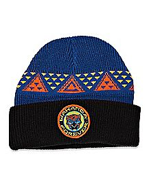 Navy Blue Wakanda Forever Beanie Hat - Black Panther