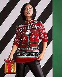 fra gee lay leg lamp ugly christmas sweater a christmas story - Dirty Ugly Christmas Sweater