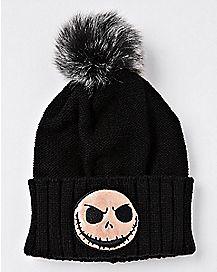 Iridescent Jack Skellington Pom Beanie Hat - The Nightmare Before Christmas