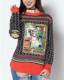 Light Up Bob's Burgers Ugly Christmas Sweater