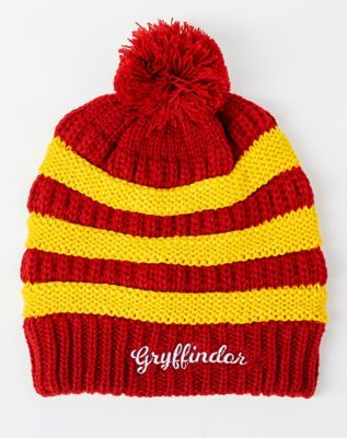 0a080f8fca0 Pom Gryffindor Beanie Hat - Harry Potter - Spencer s