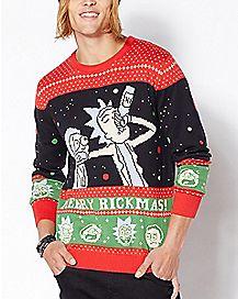 Merry Rickmas Ugly Christmas Sweater - Rick and Morty