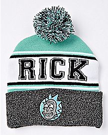 Varsity Rick Sanchez Pom Beanie Hat - Rick and Morty