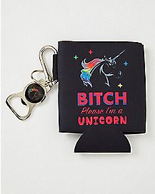 I'm A Unicorn Can Cooler and Bottle Opener
