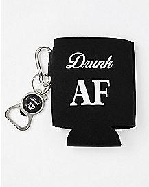 Drunk AF Can Cooler and Bottle Opener