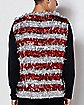 Light-Up Candy Cane Tinsel Vest