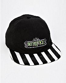 Striped Brim Beetlejuice Hat