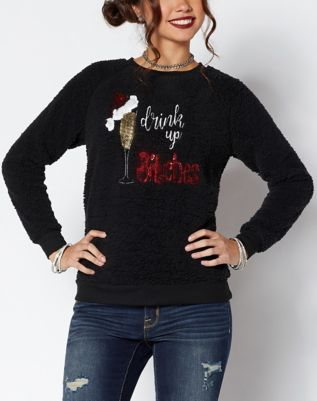 Drink Up Bitches Penguin Ugly Christmas Sweater Spencers