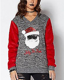 faux fur jolly as fuck ugly christmas shirt - Cheap Mens Ugly Christmas Sweater